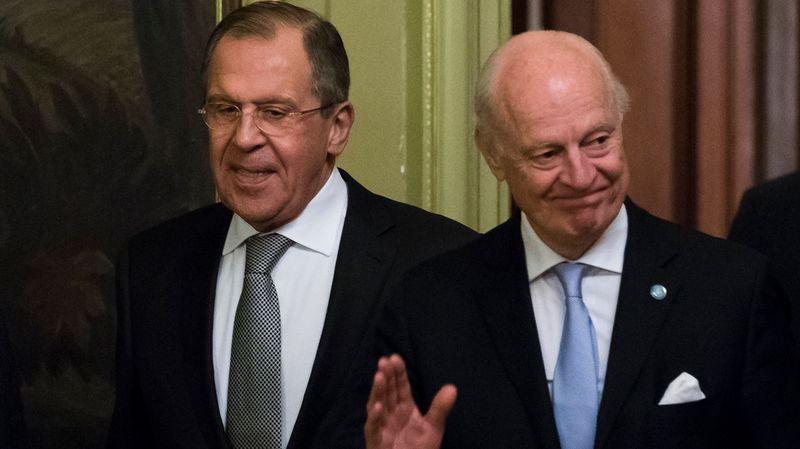 russie diplomatie Staffan de Mistura.& Lavrov 7695152.image