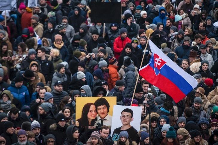 SLOVAQUIE Tout commence avec le meurtre du journaliste d_investigation Ján Kuciak et de sa compagne le 25 février. 2018 ob_d2c032_jan-kucak-c-afp