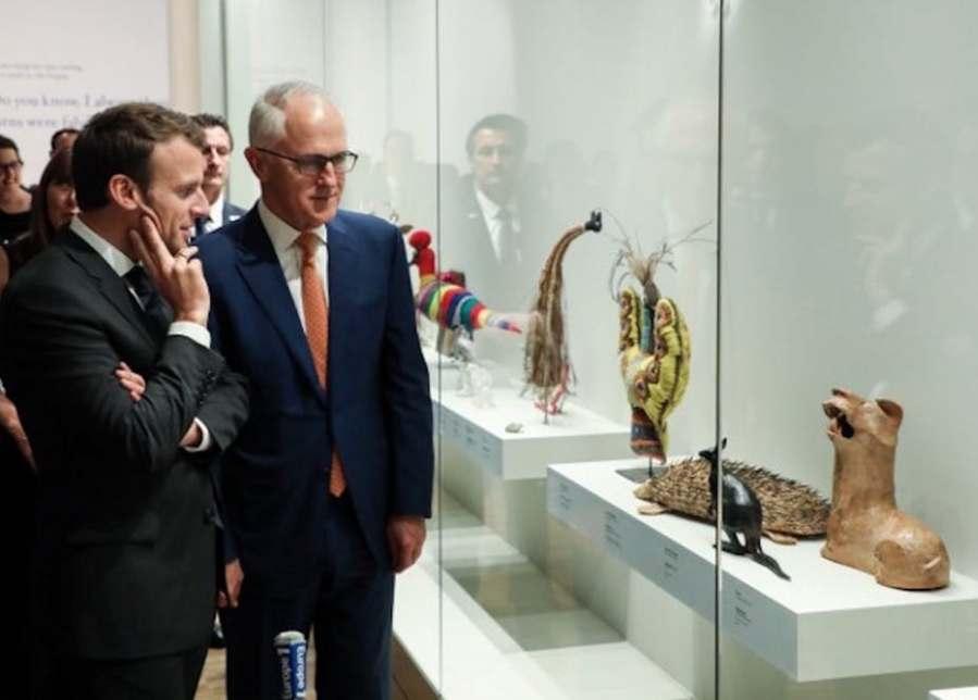australie france Macron et Tumbull file-20180503-153891-186d7p7