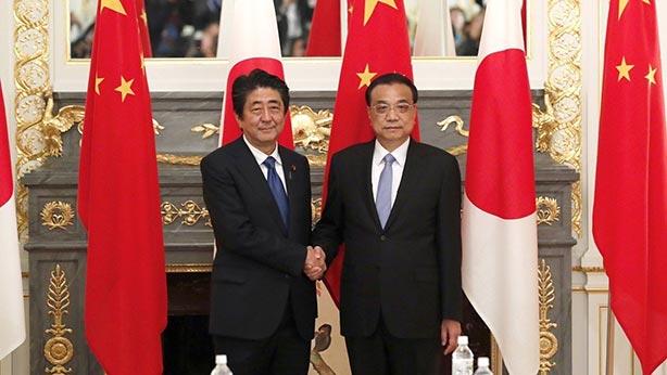 CHINE Li Keqiang a effectué en visite officielle au Japon jusqu_au 12 mai, à l_invitation de Shinzo Abe. chine-monde_052018_05