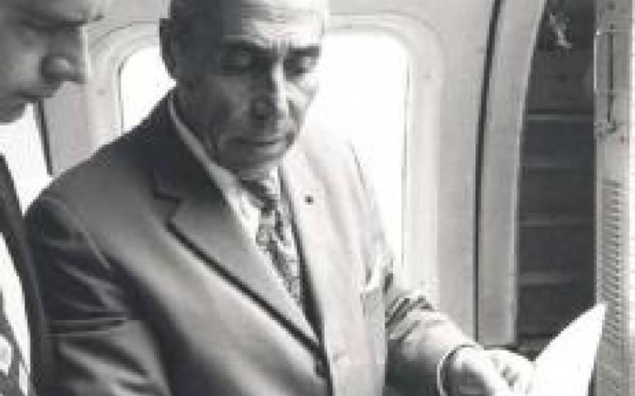 FRANCE Le centenaire de la naissance de Jean Bertin aura lieu en septembre 2017. On doit à cet ingénieur surdoué la conception de l'Aérotrain dans les années 1970. 6090741_1_1000x62