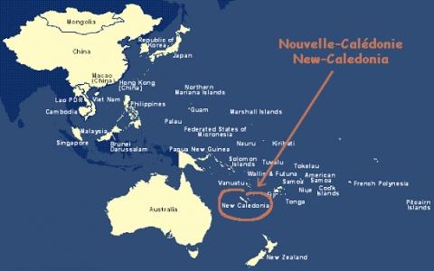 france Localisation de la Nouvelle-Calédonie dans le Pacifique Sud img-1-small480