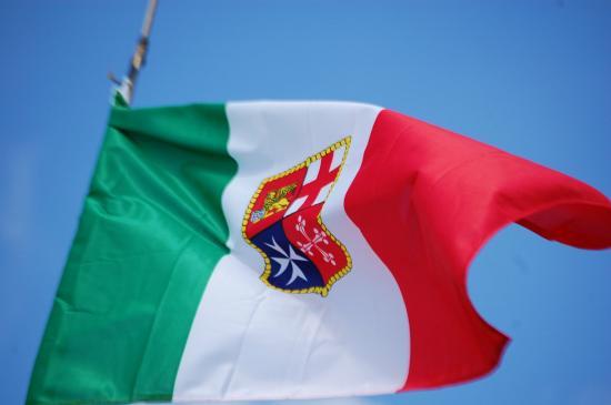 ITALIE Dea del Mare ShardanaSail Drapeau Italien et son blasondea-del-mare-shardanasail