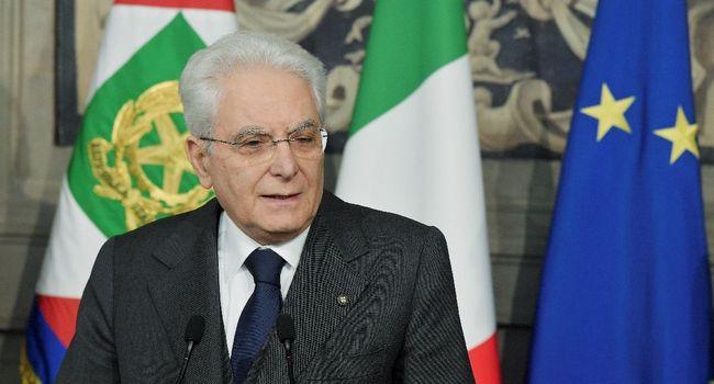 ITALIE Le président italien Sergio Mattarella lors d'une conférence de presse à Rome, 0f6056c392c08e01ff05d67985656f134c8774f7