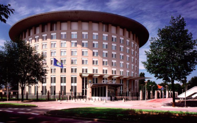 OIAC LA HAYE Siège de l'Organisation pour l'interdiction des armes chimiques (OIAC) à La Haye (Crédit- OIAC)Capture-d%u2019écran-2016-05-04-à-11.19.22-640x400