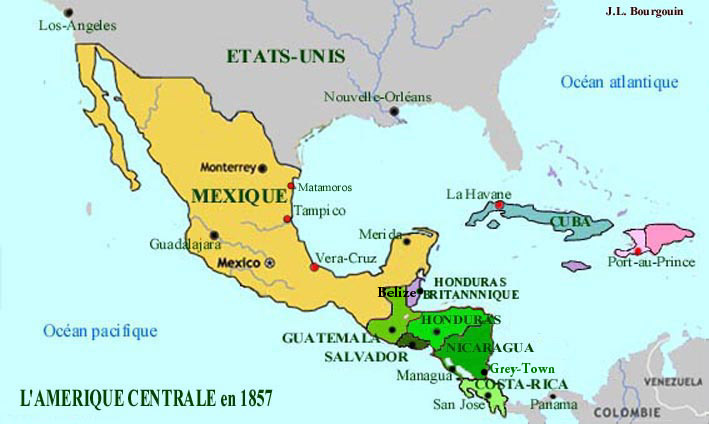 AMERIQUE Carte Amerique centrale web