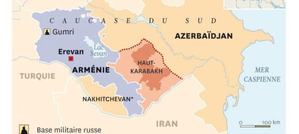 ARMENIE Haut-Karabagh, Carte-du-HK-courier-international-604x272