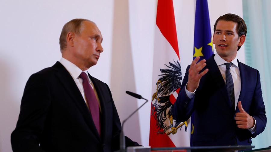 AUTRICHE RUSSIE Sebastian Kurz & Poutine 5b16d251dda4c875488b459d