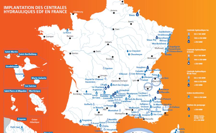 BARRAGES carte_centrales_hydroliques