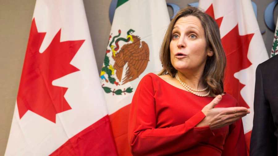 CANADA Ministre-canadienne-affaires-traeres-chrystia-freeland