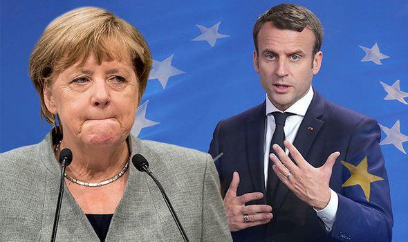 FRANCE ALLEMAGNE Macron-Merkel