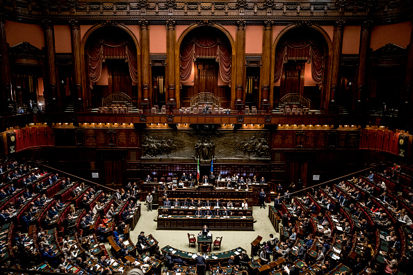 A Confidence Vote Of The New Italian Government Takes Place