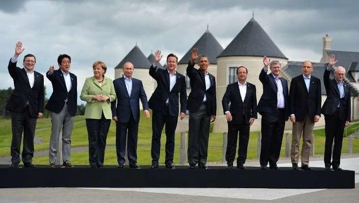 RUSSIE UE G8 Les membres du G8 et les dirigeants de l'Union européenne à Lough Erne, La-Syrie-caeur-G8_0_730_399