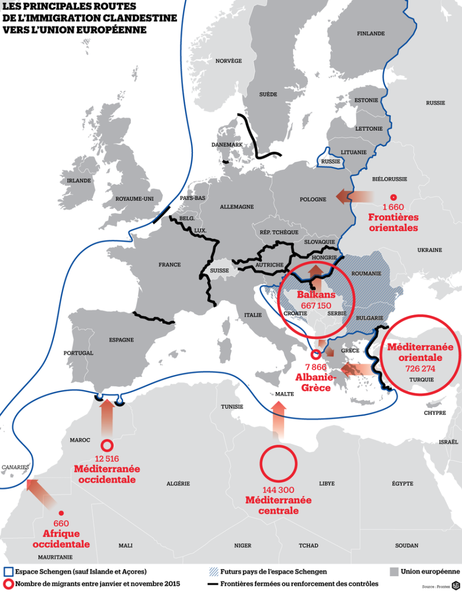 UE FRONTIERES840517-les-routes-de-l-immigration-clandestine-parution-le-5-janvier