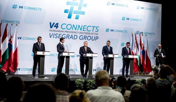 V4 Le Groupe de Visegrád et l_Autriche se sont retrouvés à Budapest pour un sommet sur l_immigration 20180621-v4-autriche-fb-vo-740x431