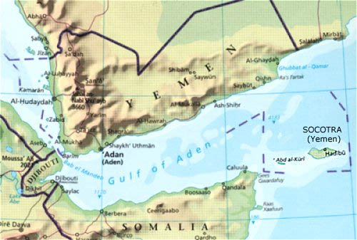 yemen ILE SOCOTRA PIQUEE PAR ARABIE SAOUDITE map
