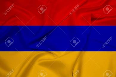 Waving Armenia Flag
