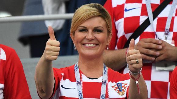 CROATIE La fan N.1. Kolinda Grabar-Kitarović, accessoirement présidente de la Croatie 15449461
