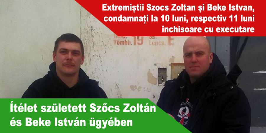 István Beke et Zoltán Szőcs, Ítélet-született-Szőcs-Zoltán-és-Beke-István-ügyében