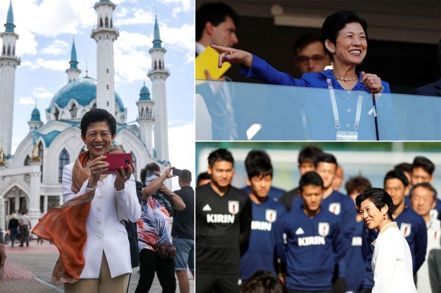 JAPON Une-princesse-japonaise-en-Russie-pour-la-Coupe-du-Monde