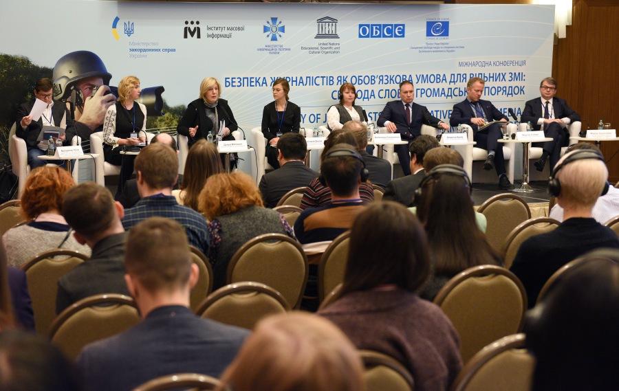 OSCE Sécurité des journalistes – condition préalable à la liberté des médias, la conférence internationale tenue Safety of journalists conference 3Feb2017