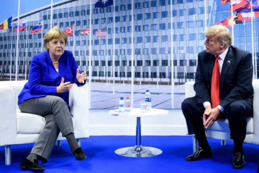 OTAN 2018 1139324-angela-merkel-et-donald-trump-le-11-juillet-2018-a-bruxelles-lors-du-sommet-de-l-otan
