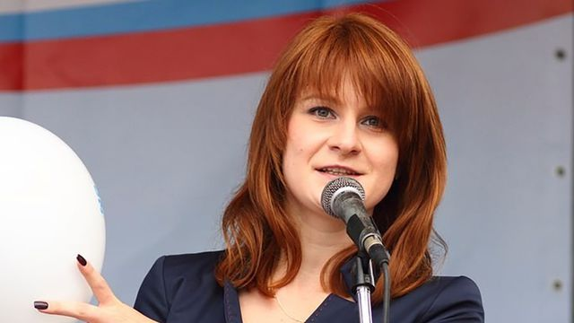 RUSSIE Maria Butina, accusée d'être un agent russe, fait un discours au sujetpublic-figure-maria-butina-delivers-a-speech-during-a-rally-to-demand-the-expanding-of-rights-of-russian-ci