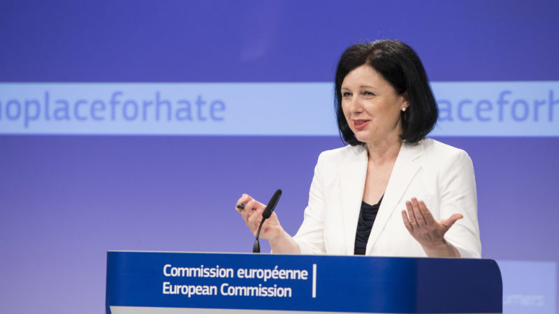 Vĕra Jourová, Member of the EC in charge of Justice, Consumers and Gender Equality, will hold a press statement on the monitoring of the illegal online hate speech code of conduct.