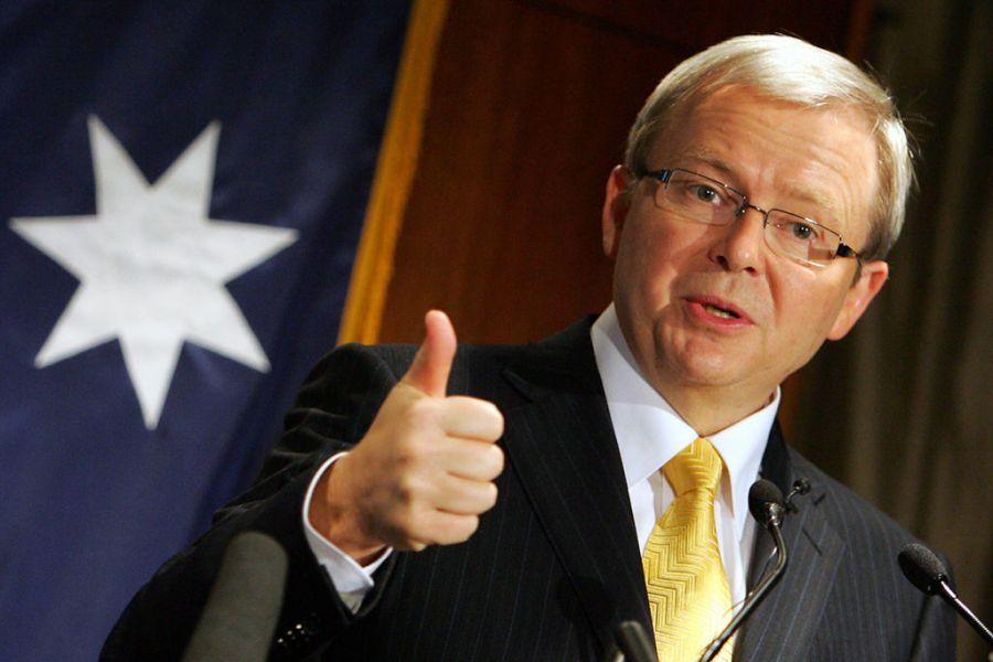 AUSTRALIE Kevin Rudd fervent d_études chinoises, ancien Premier Ministre australien.