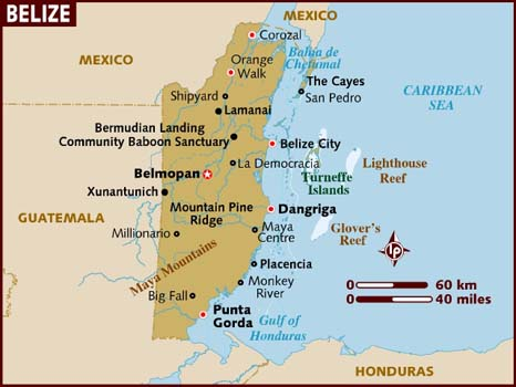 carte map_of_belize