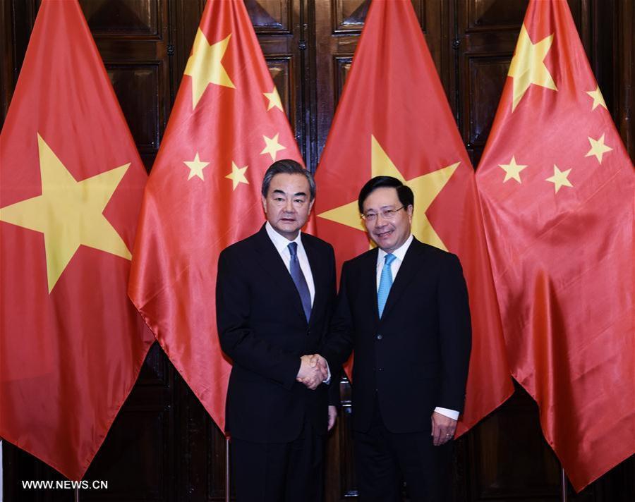chine vietnam Wang Yi et son homologue vietnamien Pham Binh Minh FOREIGN201804020823000427169744230