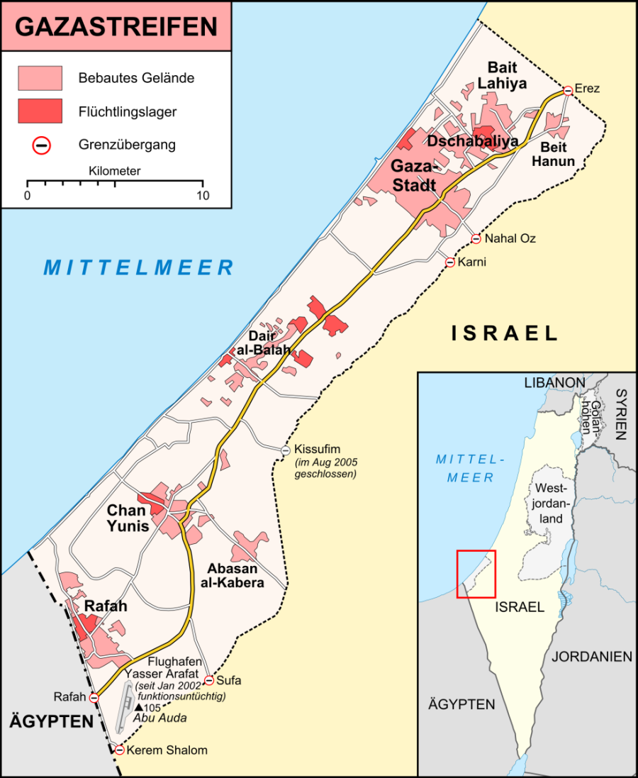 GAZA Karte_Gazastreifen