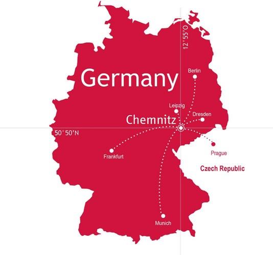 allemagne Chemnitz-Landkarte