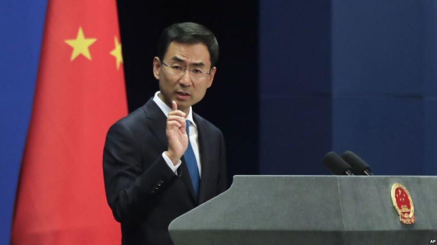 chine Le porte-parole de la diplomatie chinoise, Geng Shuang, le 4 septembre 2017 FD4E22B3-C490-465E-9C5F-BBFB77EC1628_w1023_r1_s