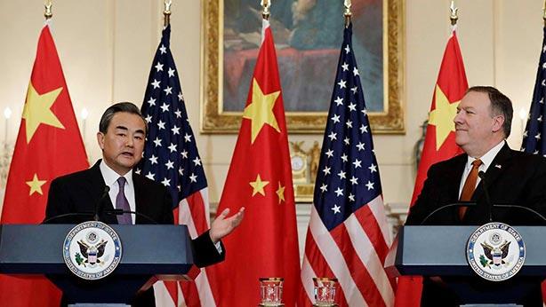 chine usa Le 23 mai, durant la visite de Wang Yi au département d_État, Mike Pompeochronique_052018_06
