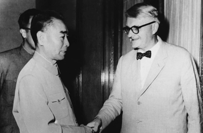 EUROPE CHINE Joseph Needham avec Zhou Enlai en 1964 article01