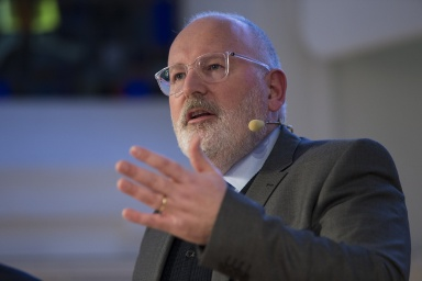 Frans Timmermans, First Vice-President of the EC in charge of Better Regulation, Inter-Institutional Relations, the Rule of Law and the Charter of Fundamental Rights, participates in the Citizens' Dialogue in Leuven, Belgium.