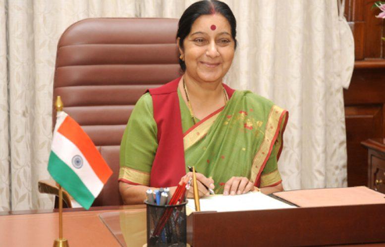 INDE La Ministre indienne des Affaires étrangères Sushma Swaraj sushma-swaraj-nuoyq2jxywfl84oefxu3zclm5rrukhtyovwlx3158o