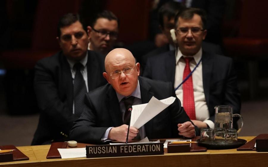 onu russie l'Ambassadeur russe à l'Onu Vassili Nebenzia 7607931_25573bd6-27d3-11e8-8495-74019d0098ae-1_1000x625