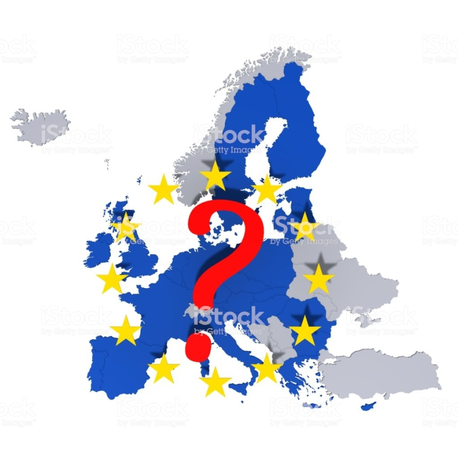 eu european union europe georaphically map european countries template graphic illustration silhouette 3d rendering isolated on white background