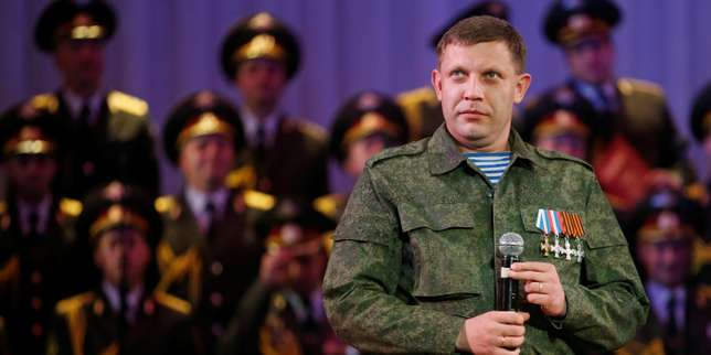 FILE PHOTO: Alexander Zakharchenko, separatist leader of the self-proclaimed Donetsk People's Republic, sings during a concert in Donetsk