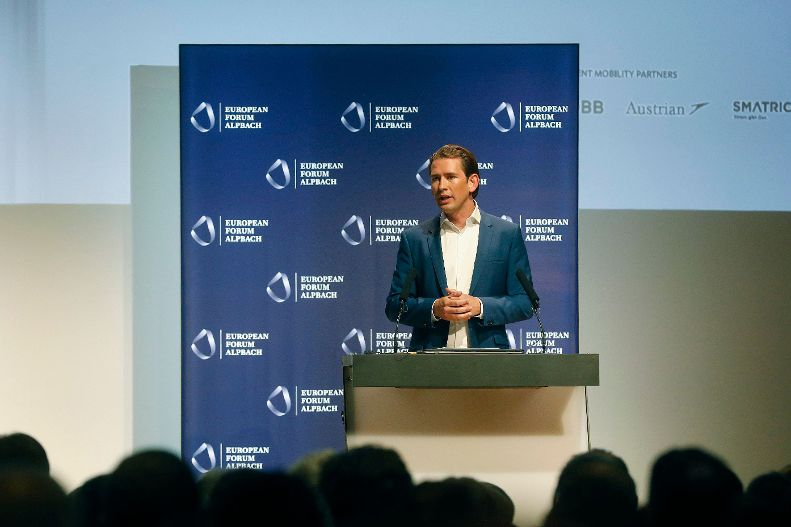 autriche chancelier fédéral Kurz Rede des Bundeskanlzers Sebastian Kurz beim Europäisches Forum Alpbach