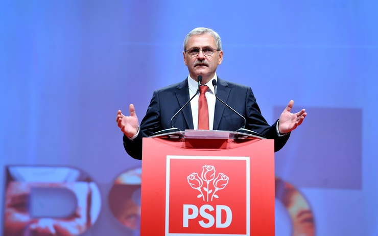 roumanie Liviu_Dragnea_la_Consiliul_National_al_PSD_(10776720636)
