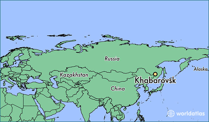 RUSSIE 18059-khabarovsk-locator-map