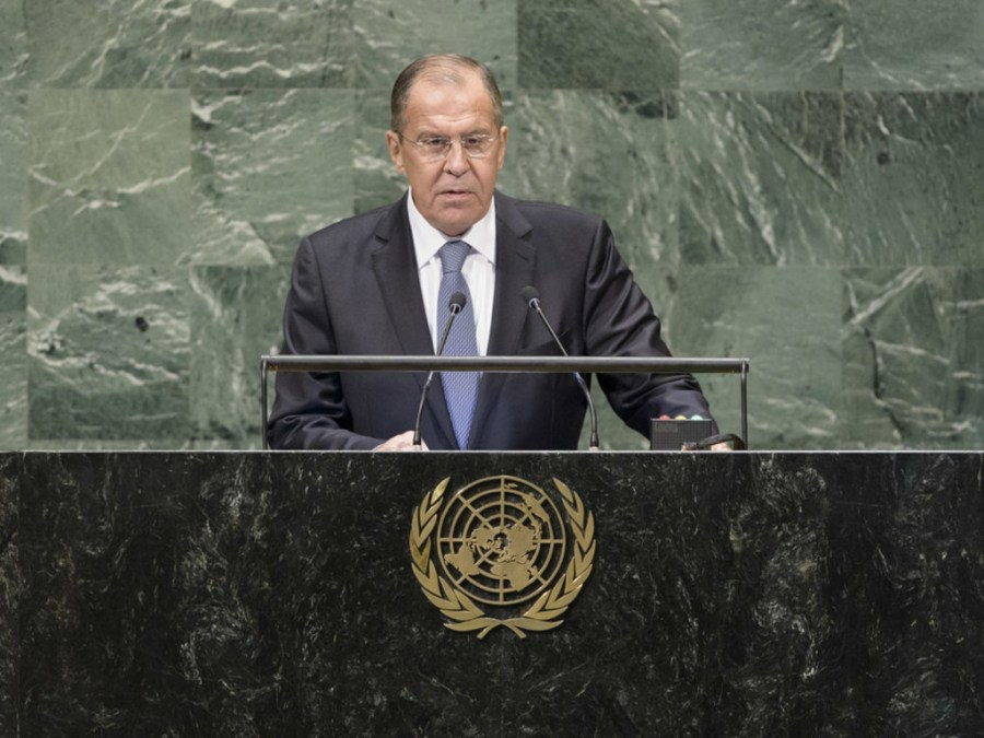 Russie Sergueï Lavrov à l'ONU image1024x768