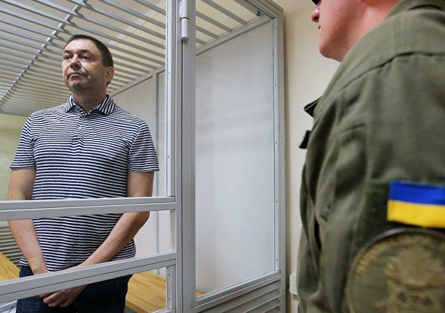 UKRAINE Le journaliste Kirill Vychinski au tribunal de Kherson1037802059