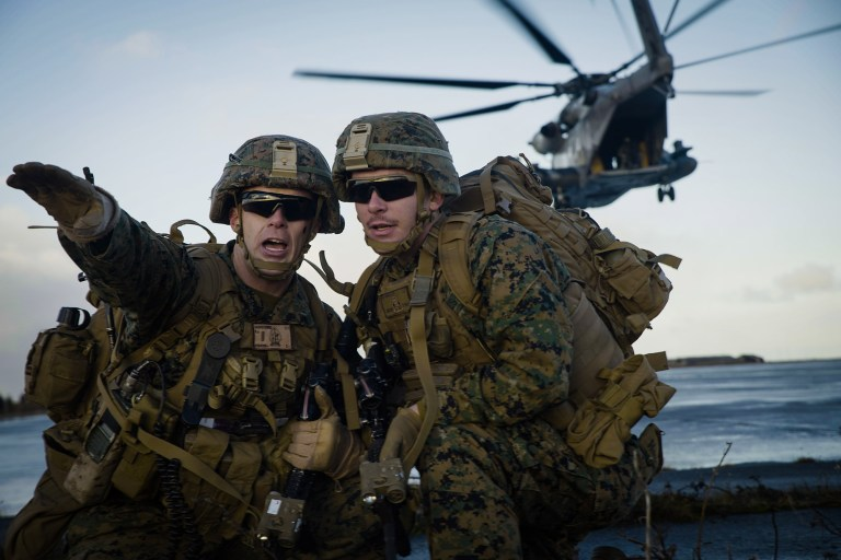 Marine Conduct Air Assault Training