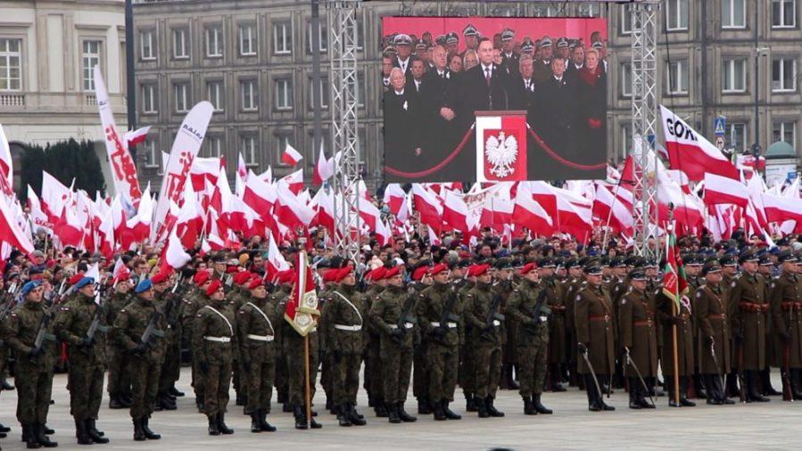 POLOGNE Commémoration du 11 novembre 2018, Varsovie, en présence du Président Andrzej Duda. Photo Visegrád Post.2018.11.11-Duda-commémoration-11-novembre-2-990x557