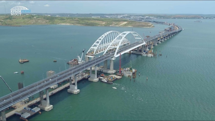 RUSSIE CRIMEE UKRAINE le pont du détroit de Kertch hdbr-_temr4