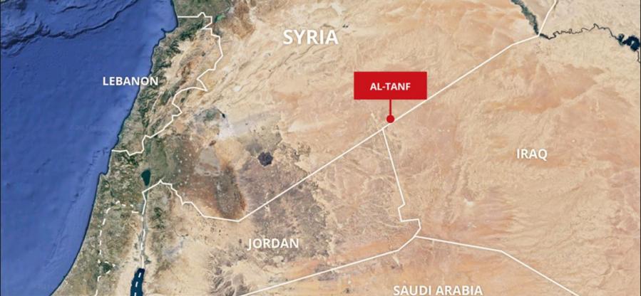 SYRIE base militaire illégale dans les environs d'al-Tanf. screenshot_122